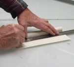 Photo of trimming the laminated spine