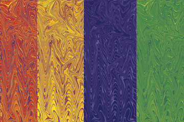image of 4 Different Marbled Brick Colors