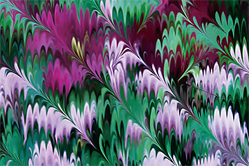 Image of Climatis + Chives (marbled) closeup