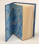 Photo of hardcover book Kokapelli showing decorative endsheet.