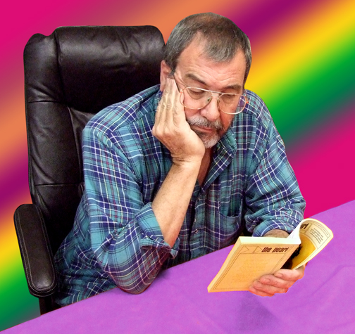 Photo of Mike Reading Paperback